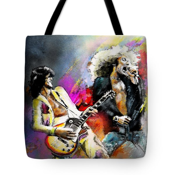 Jimmy Page And Robert Plant Led Zeppelin Tote Bag