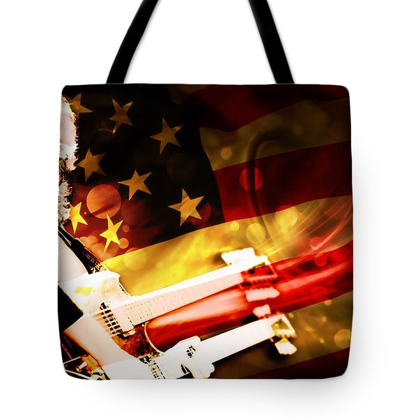 Jimmy Page Of Led Zeppelin Tote Bag
