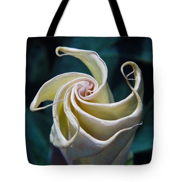 Jimsonweed Flower Spiral Tote Bag