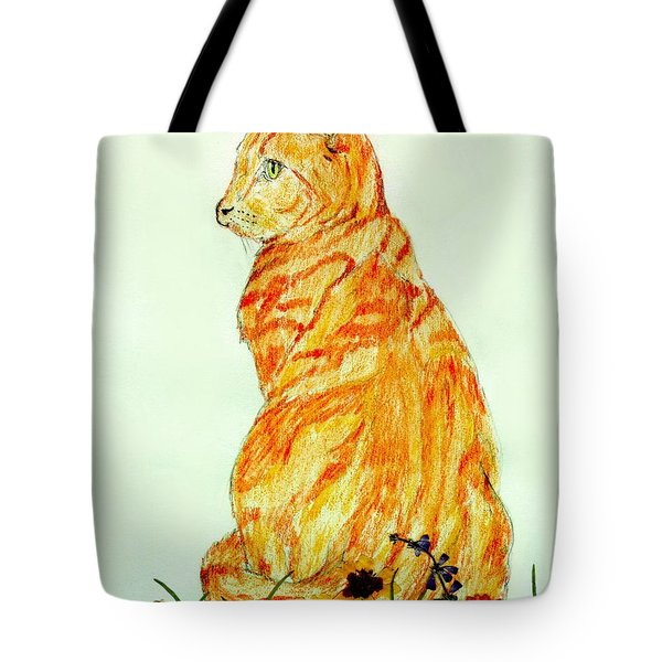 Tote Bag featuring the drawing Jinj by Stephanie Grant