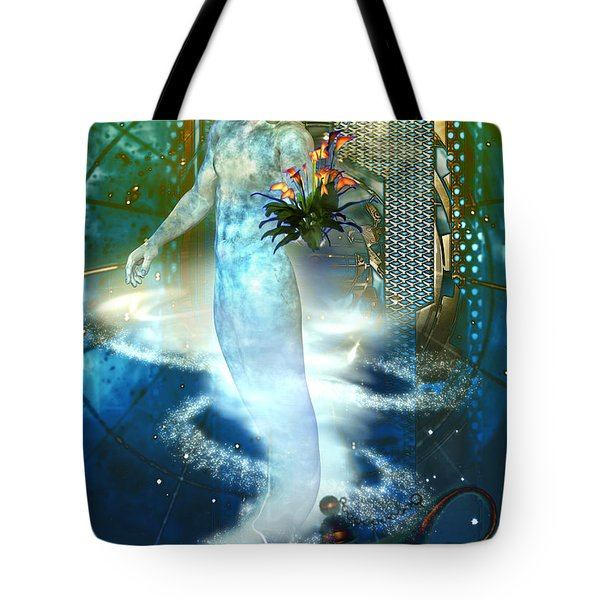 Tote Bag featuring the digital art Jinn by Shadowlea Is