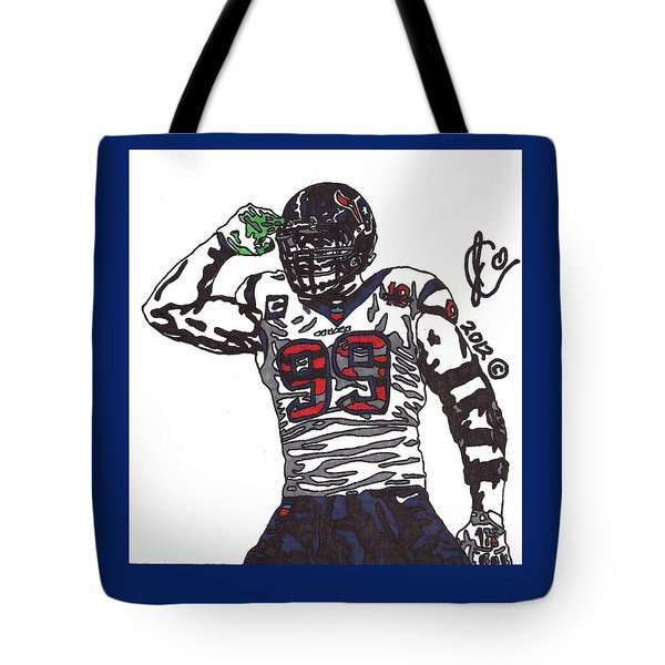 Jj Watt 1 Tote Bag by Jeremiah Colley