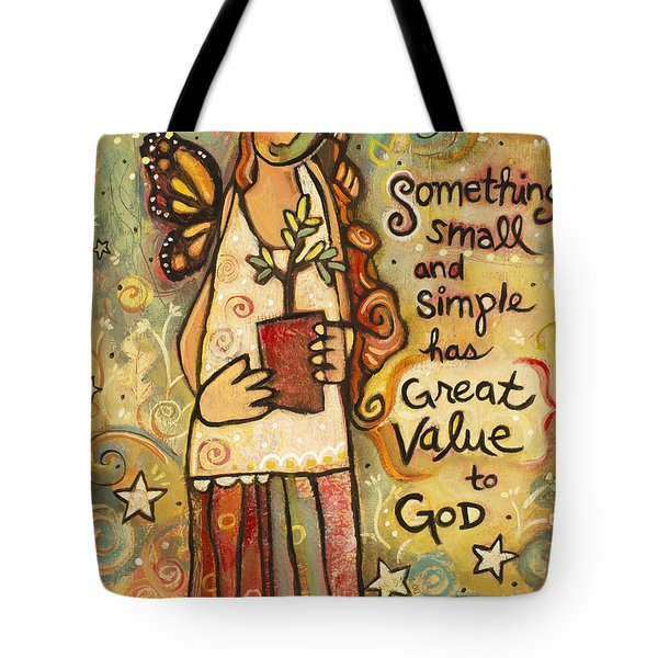Someting Small Inspirational Art Tote Bag by Jen Norton