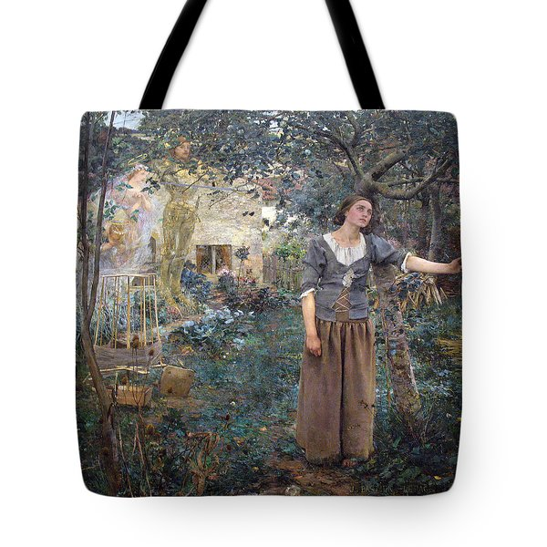 Tote Bag featuring the painting Joan Of Arc by Jules Bastien-Lepage