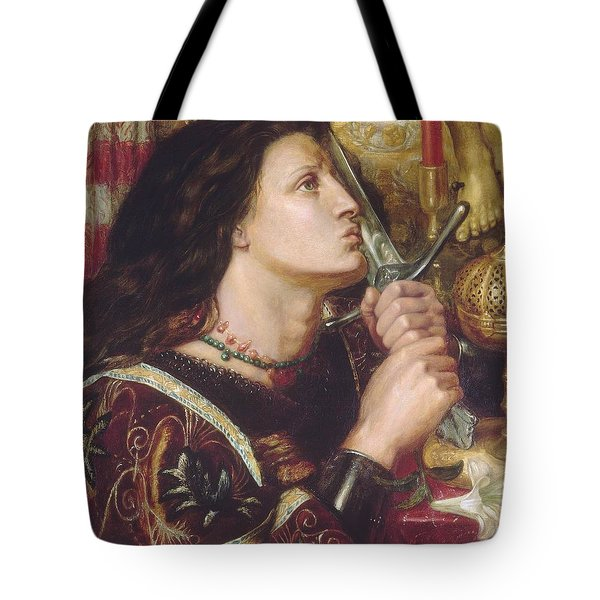 Joan Of Arc Kisses The Sword Of Liberation Tote Bag by Philip Ralley