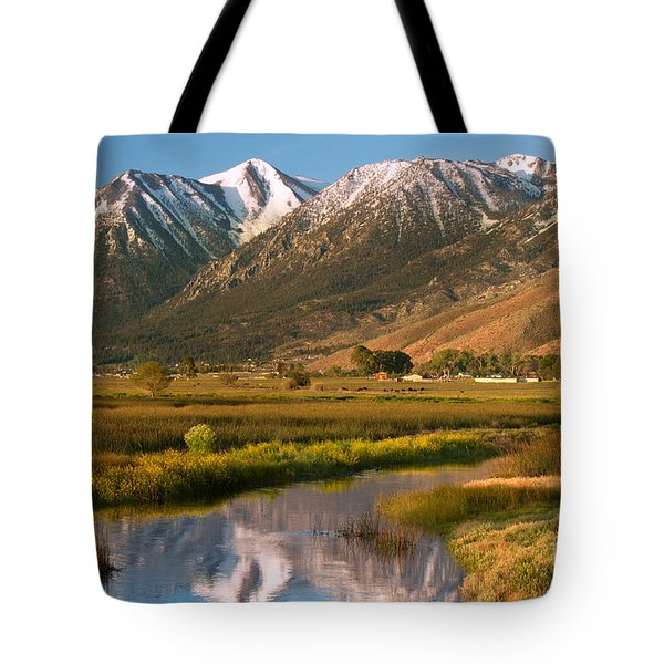 Job's Peak Reflections Tote Bag