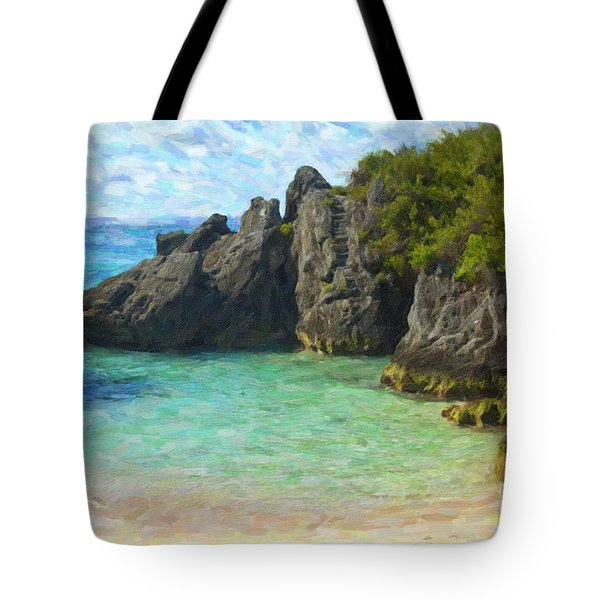 Tote Bag featuring the photograph Jobson Cove Beach by Verena Matthew