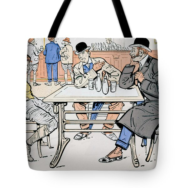Jockey And Trainers In The Bar Tote Bag by Thelem