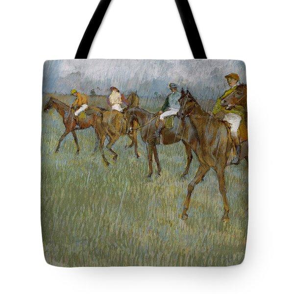 Jockeys In The Rain, 1886 Tote Bag