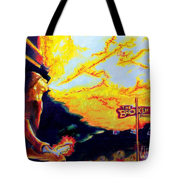 Joe At The Broken Spoke Saloon Tote Bag