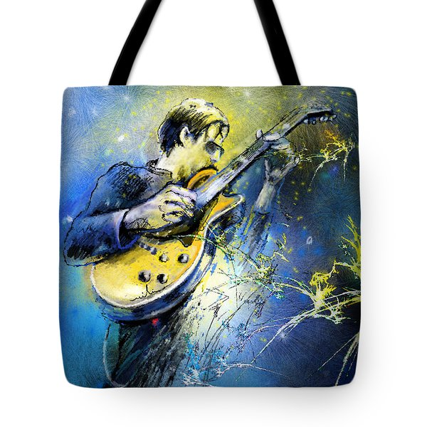 Joe Bonamassa 01 Tote Bag by Miki De Goodaboom