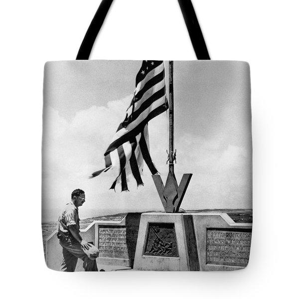 Joe Rosenthal On Iwo Jima Tote Bag