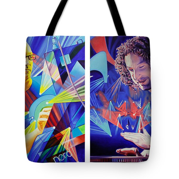 Tote Bag featuring the painting Joel And Andy by Joshua Morton
