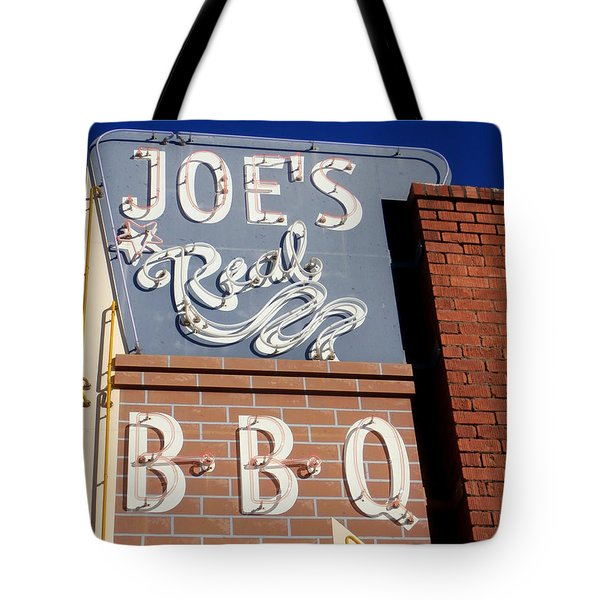 Joes Real Bbq Tote Bag by Karyn Robinson