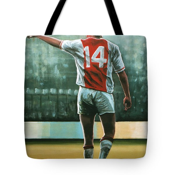 Johan Cruijff Nr 14 Painting Tote Bag