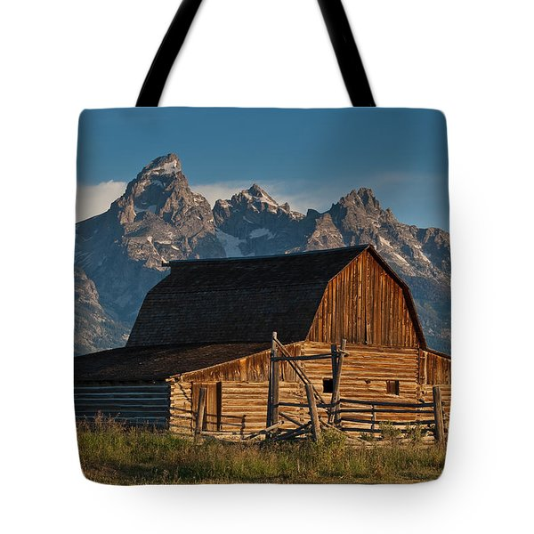 Tote Bag featuring the photograph John And Bartha Moulton Barn by Jeff Goulden