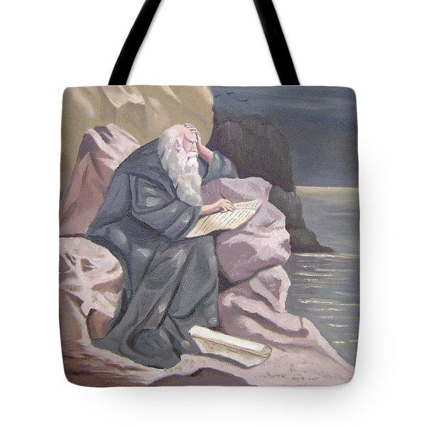 John At Patmos Tote Bag by Tanya Provines