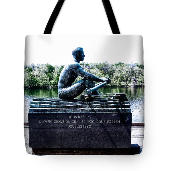 John B Kelly Statue Philadelphia Tote Bag by Bill Cannon
