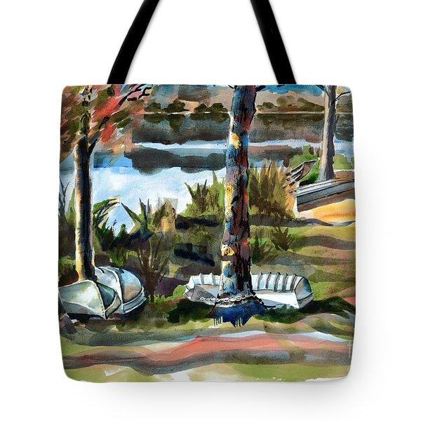 John Boats And Row Boats Tote Bag by Kip DeVore