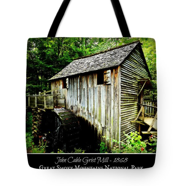 John Cable Grist Mill - Poster Tote Bag