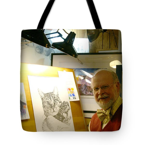 Tote Bag featuring the photograph John D Benson by Charles Kraus