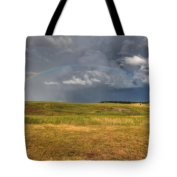 John Deer At The End Of The Rainbow Tote Bag