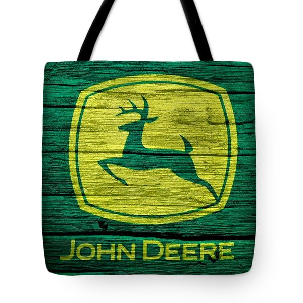 John Deere Barn Door Tote Bag by Dan Sproul