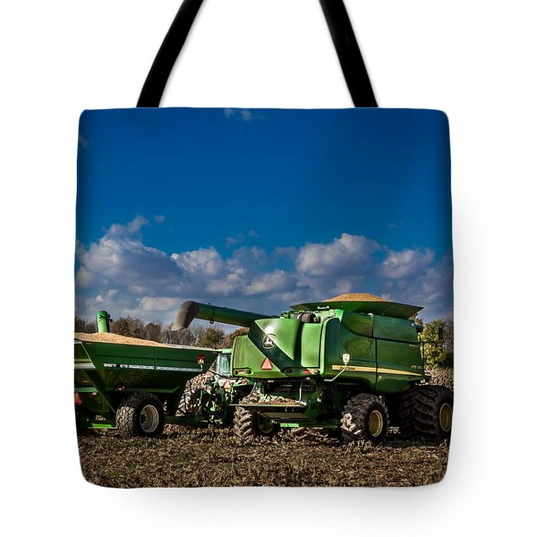 Tote Bag featuring the photograph John Deere Combine 9770 by Ron Pate