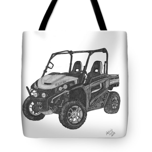 Tote Bag featuring the drawing John Deere Gator by Patricia Hiltz