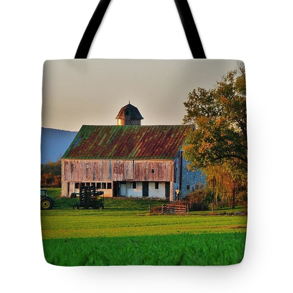 John Deere Green Tote Bag by Robert Geary