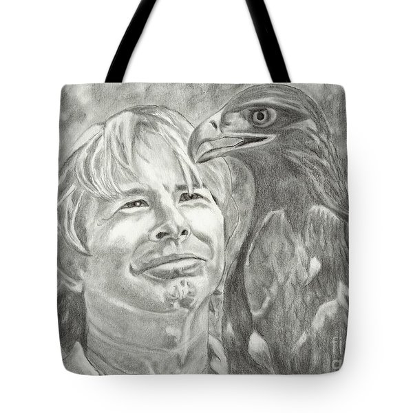 John Denver And Friend Tote Bag by Carol Wisniewski