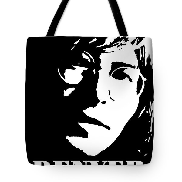 John Denver Black And White Pop Art Tote Bag