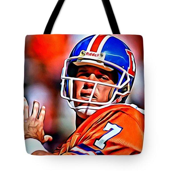John Elway Tote Bag