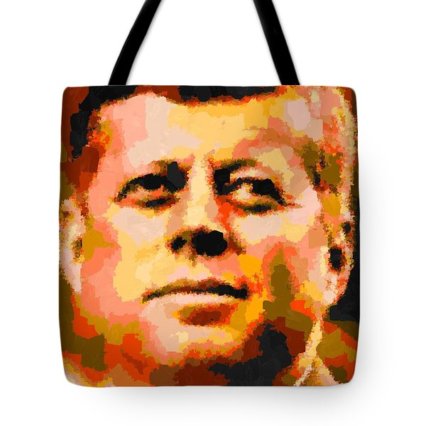 John Fitzgerald Kennedy - Abstract Tote Bag