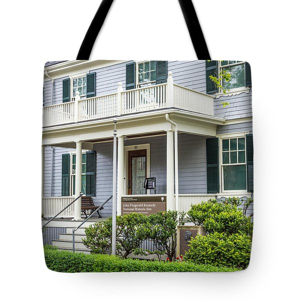 John Fitzgerald Kennedy Birthplace Tote Bag by Susan Cole Kelly