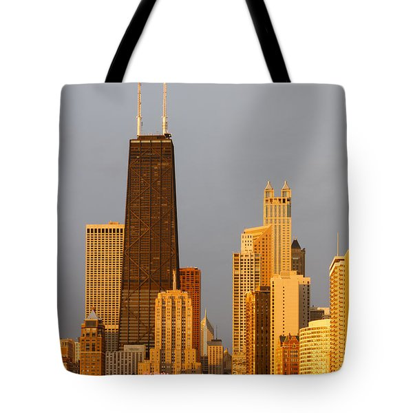 John Hancock Center Chicago Tote Bag by Adam Romanowicz