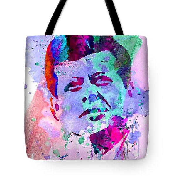 John Kennedy Watercolor Tote Bag
