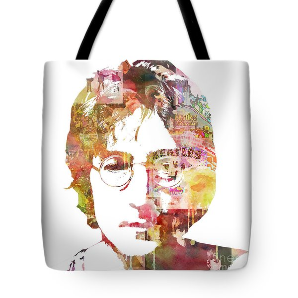 John Lennon Tote Bag by Mike Maher