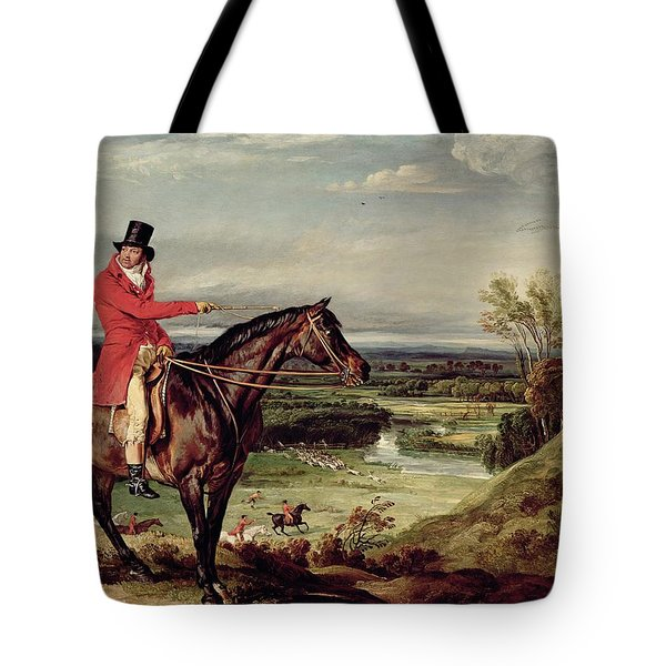 John Levett Hunting In The Park At Wychnor Tote Bag by James Ward