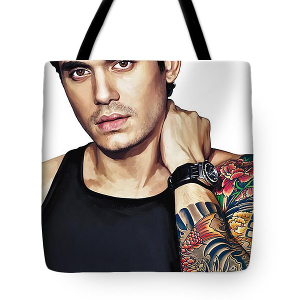 John Mayer Artwork  Tote Bag