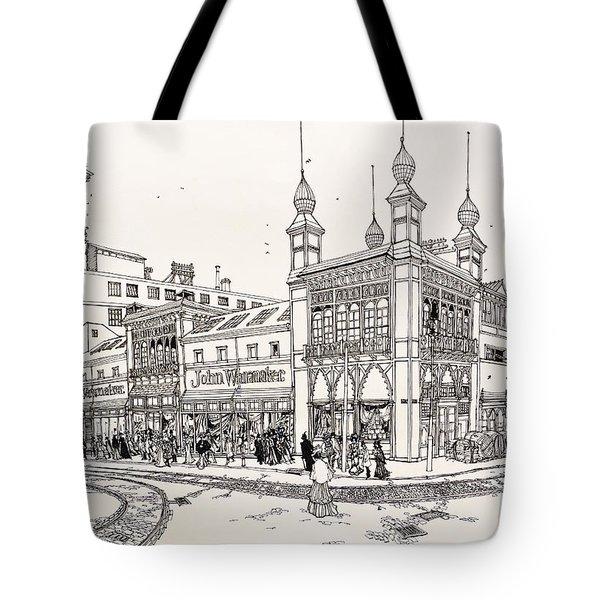 John Wanamaker's Grand Depot Tote Bag by Ira Shander
