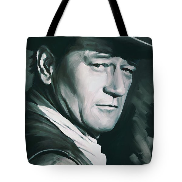 John Wayne Artwork Tote Bag