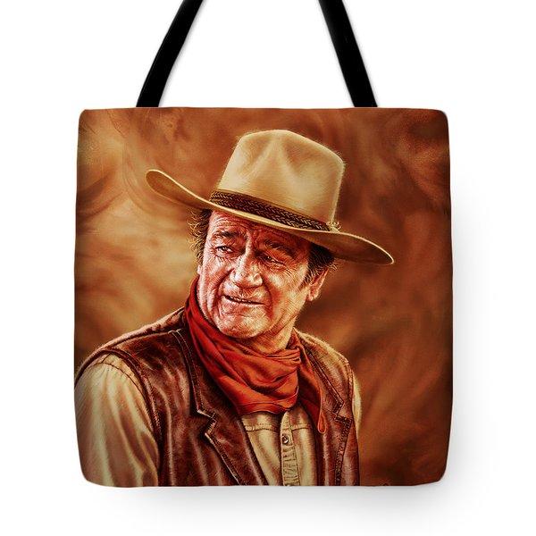 John Wayne Tote Bag by Dick Bobnick