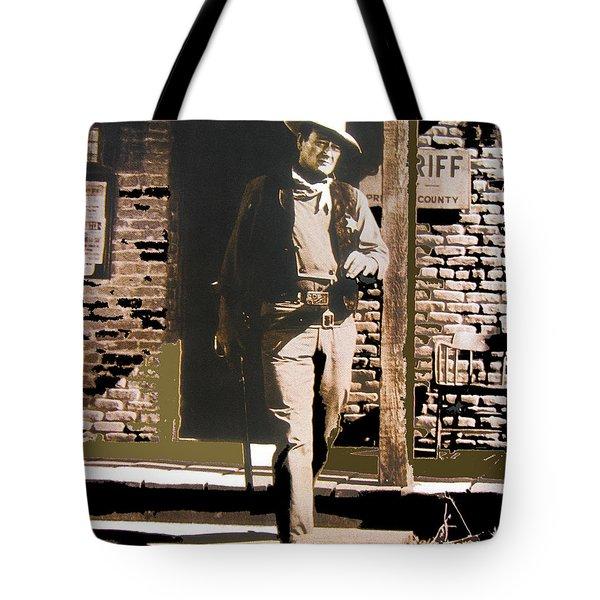 John Wayne Exciting The Sheriff's Office Rio Bravo Set Old Tucson Arizona 1959-2013 Tote Bag