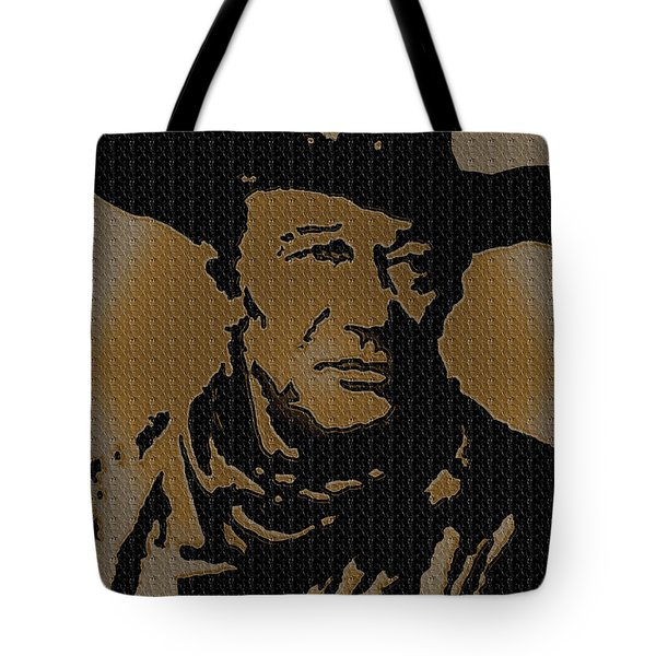 John Wayne Lives Tote Bag by Robert Margetts