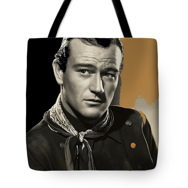 John Wayne  Publicity Photo In Costume Stagecoach 1939-2009 Tote Bag