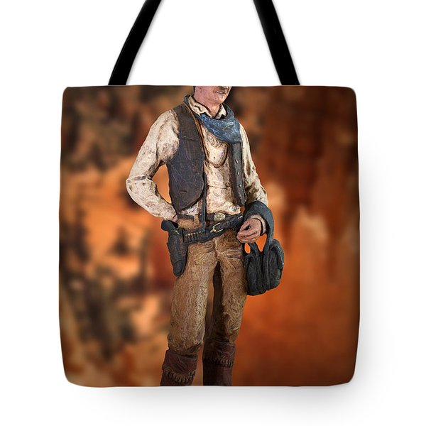 John Wayne The Cowboy Tote Bag by Thomas Woolworth