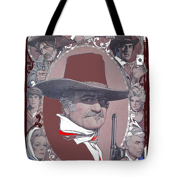 Tote Bag featuring the photograph John Wayne The Shootist Amsel Art Work 1976-2013 by David Lee Guss