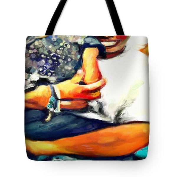 Johnelle Saving The World One Child At A Time Tote Bag by Vannetta Ferguson