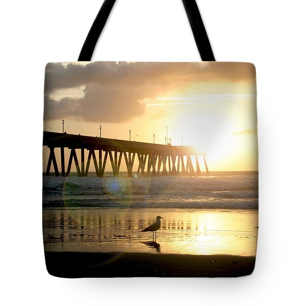 Johnnie Mercer's Pier With Birds Tote Bag